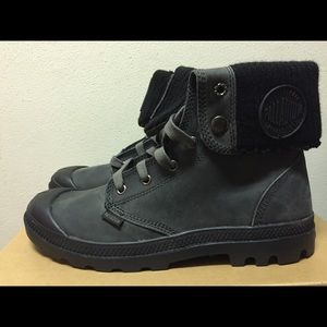 Palladium Baggy Leather Knit Boot Size: 9.5